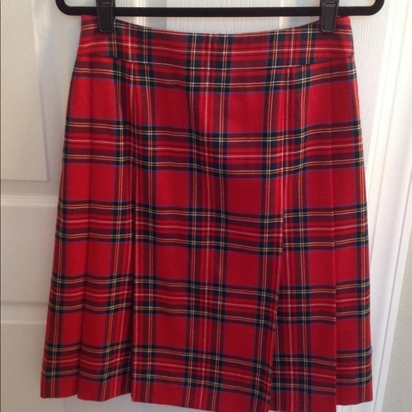 9701e168fc Brooks Brothers Dresses & Skirts - Stunning Brooks Brothers Tartan Plaid  Skirt